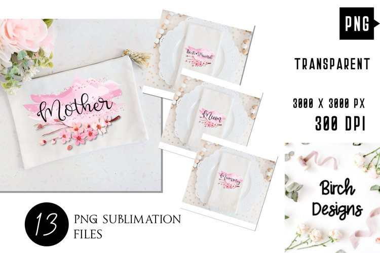 Mothers Day Bundle, Pink Mothers Day Sublimation Designs