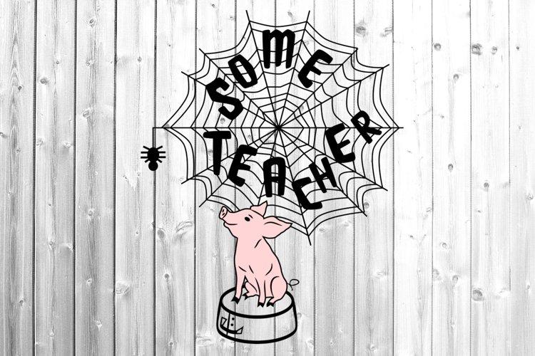 Some teacher svg Pig teacher svg