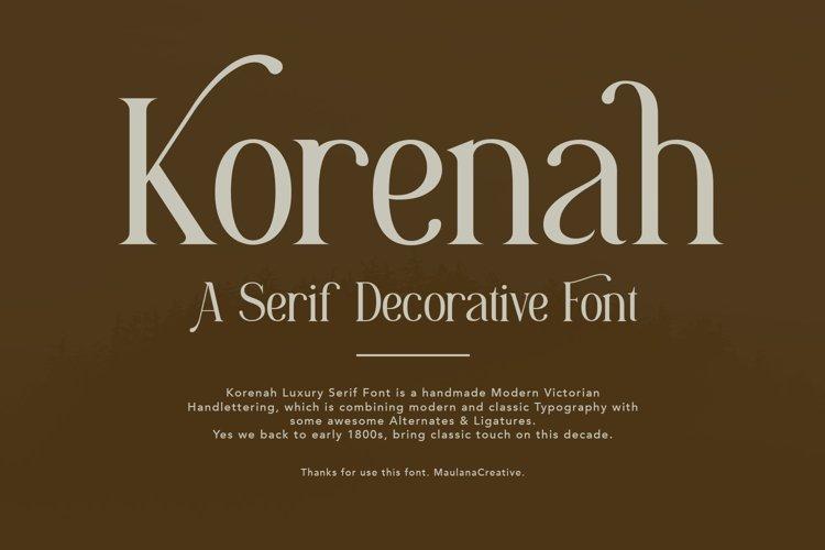 Korenah Serif Decorative Display Font example image 1