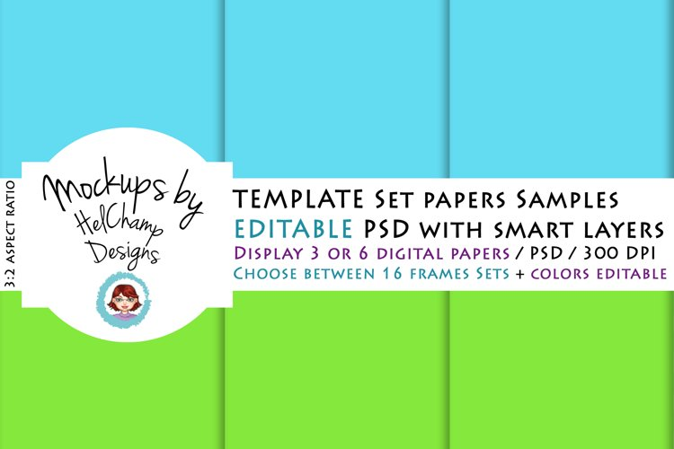 3 or 6 Panels Mockup for Digital Papers - TH04