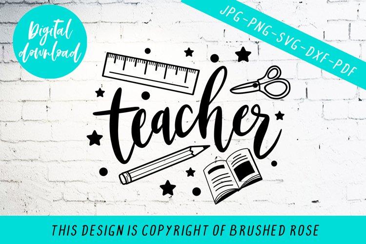 Teachers, clip art, svg example image 1