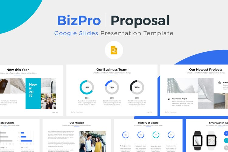 BizPro | Proposal Google Slides Template example image 1