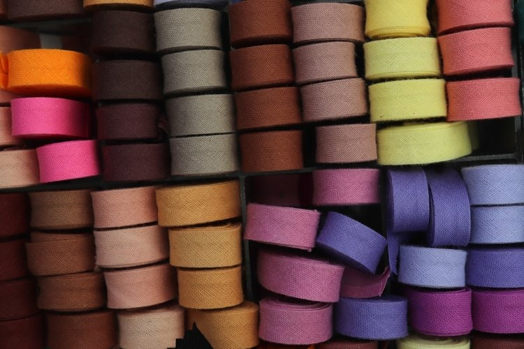 Colorful textile background texture example image 1