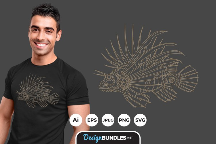Steampunk Fish for T-Shirt Design example image 1