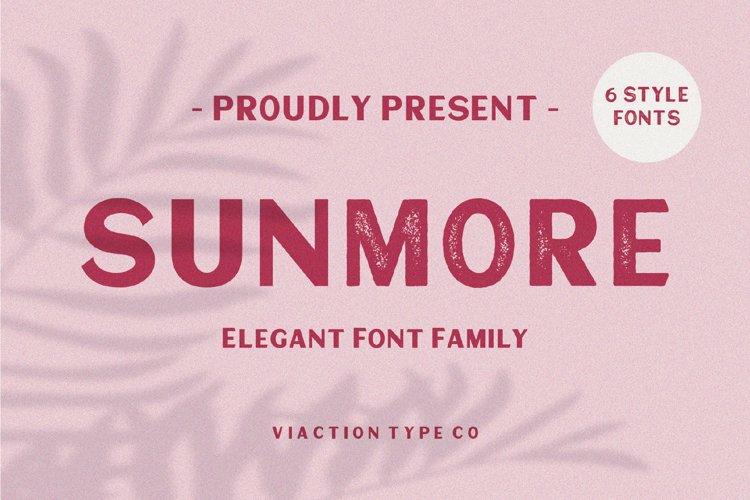 Sunmore - Elegant Font example image 1