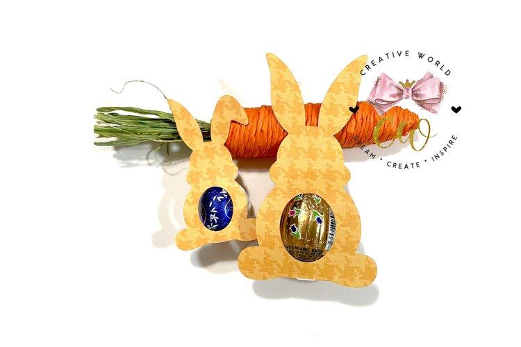 Easter Bunny Chocolate Egg Template | Chocolate Egg svg example image 1