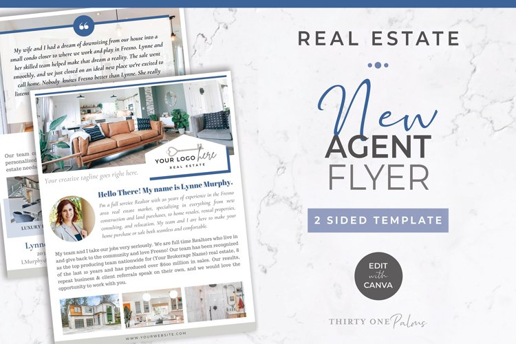 New Agent Flyer Template for Realtor