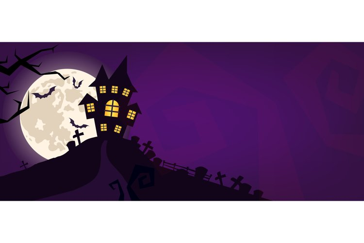 Halloween scary vector background