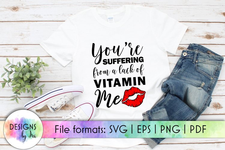 Funny Valentines Quote SVG Cut File | Red Lips SVG | Kiss example image 1