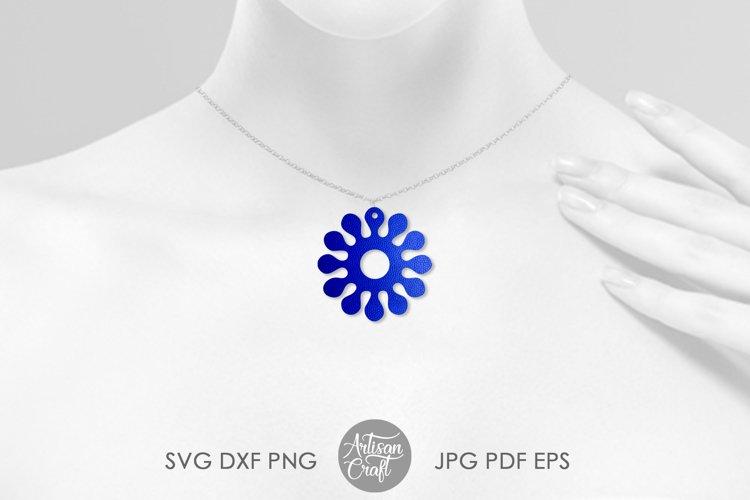 Earring template SVG, sunflower SVG, earrings SVG example 1