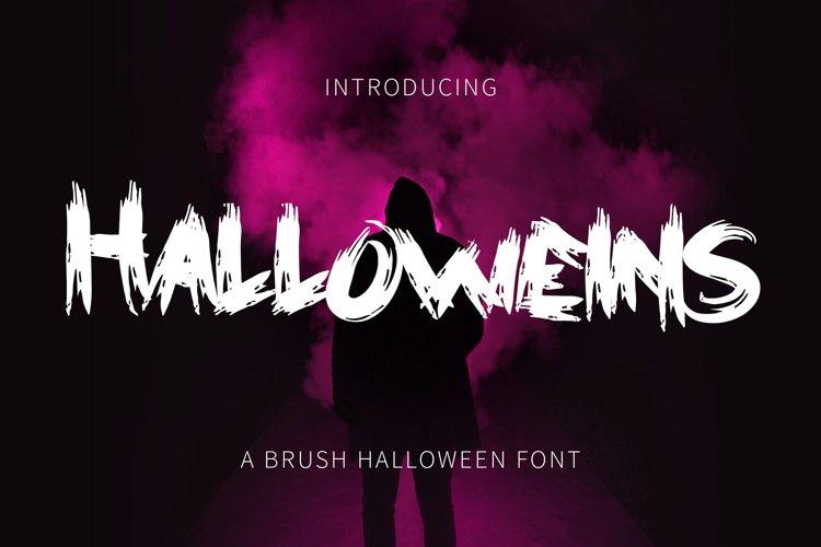 Halloweins - Brush Font example image 1