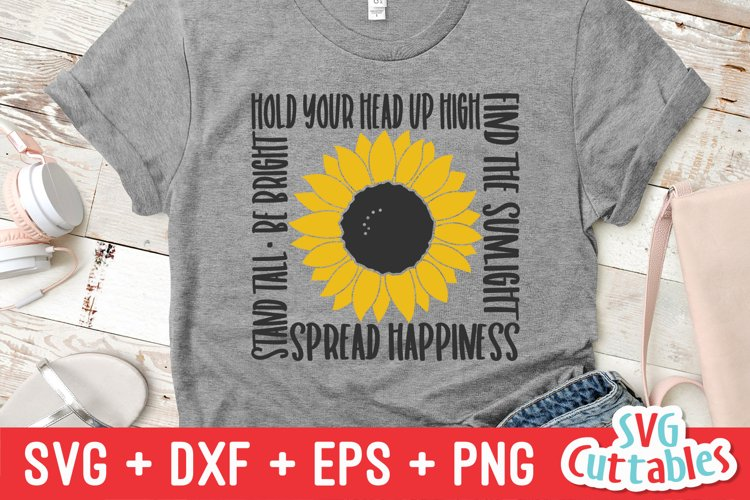 Sunflower SVG | Inspirational Sunflower Quote | Shirt Design