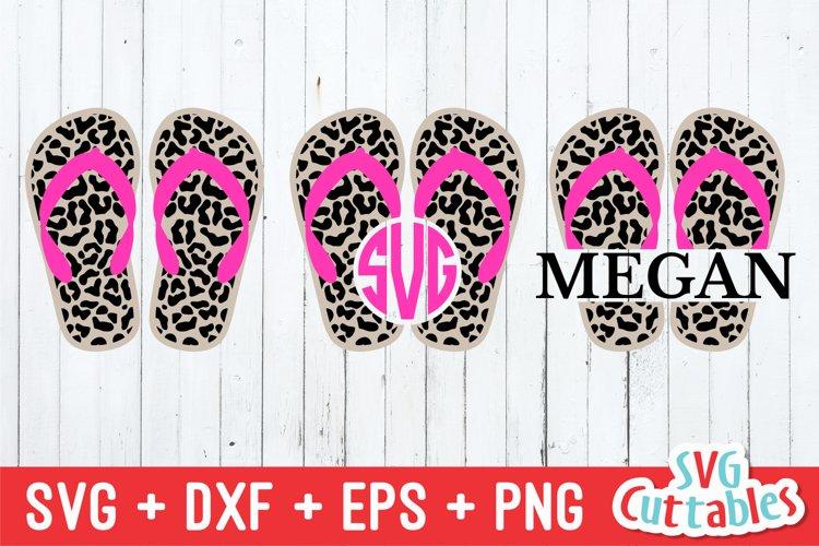 Leopard Print Flip Flop | Summer | SVG Cut File example image 1