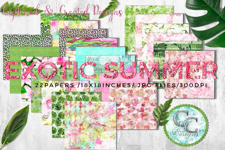 22 - 18x18 in. Exotic Summer Digital Papers example image 1