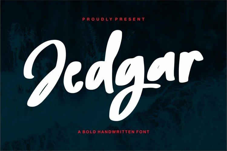 Web Font Jedgar - A Bold Handwritten Font example image 1