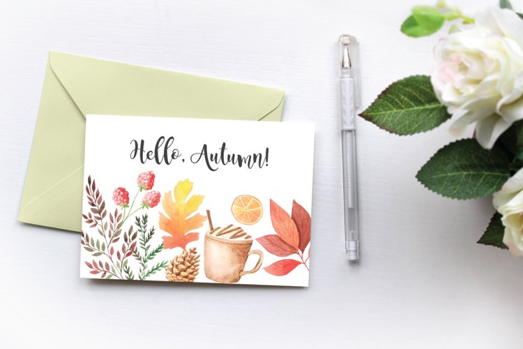 The Watercolor Autumn Collection  - Free Design of The Week Design3