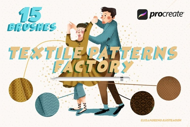 Textile Patterns Factory Procreate example image 1