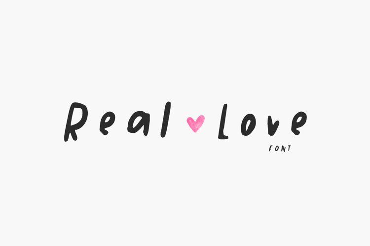 Real Love Font example image 1