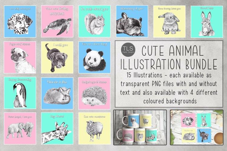 Cute Animal Sublimation Bundle, Greeting Card design