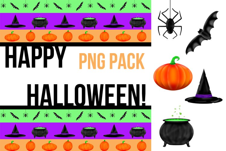 Halloween Illustrated Clipart and Graphic Pack