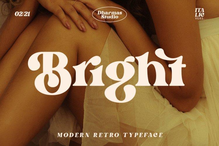 Bright - Modern Retro Typeface example image 1