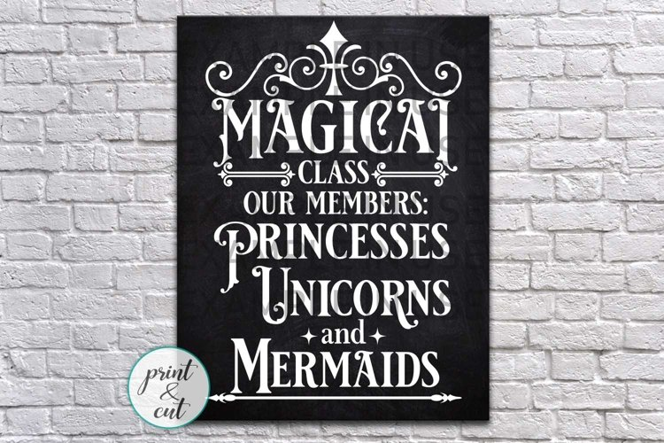 Magical class sign classroom svg dxf files png jpg print example image 1