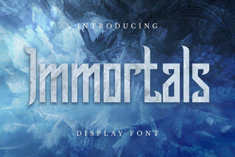 Immortals Font example image 1