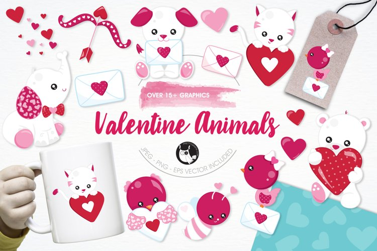 Valentine Animals graphics and illustrations - Free Design of The Week Font