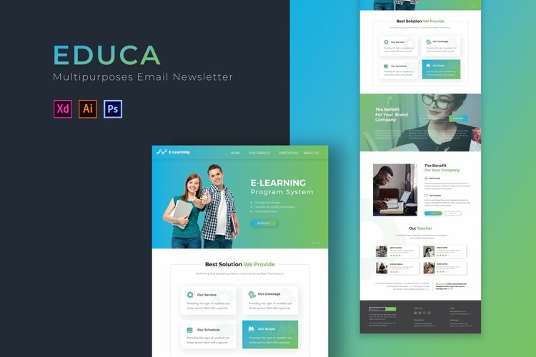 Educa | Email Newsletter Template example image 1