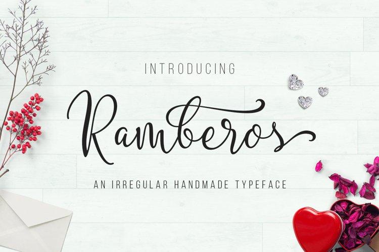 Ramberos Typeface example image 1