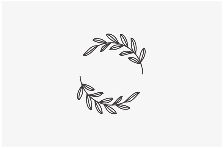 Floral circle frame logo vector icon template inspiration example image 1