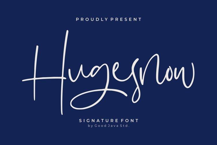 Hugesnow - Signature Font example image 1
