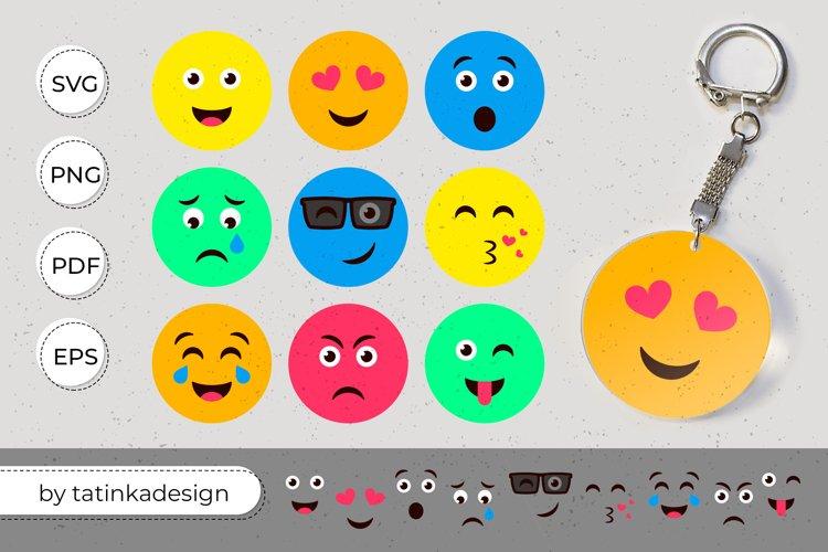 Keychain emoji svg, Keychain svg, Acrylic key keychain