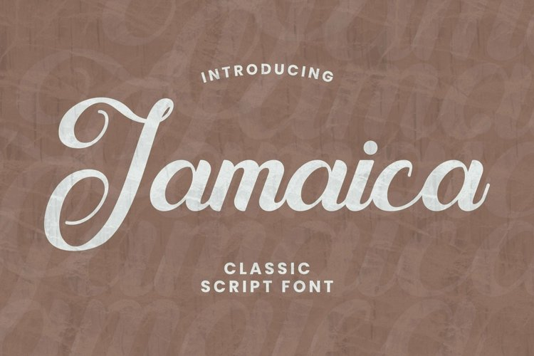 Web Font Jamaica Font example image 1