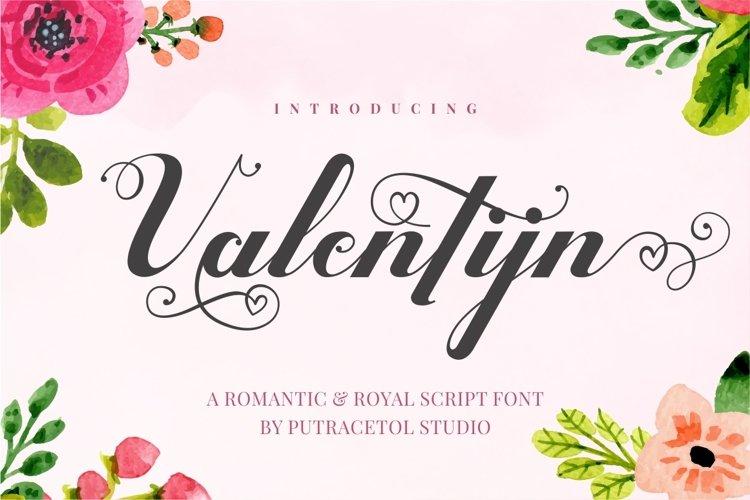 Valentijn - Romantic Font example image 1