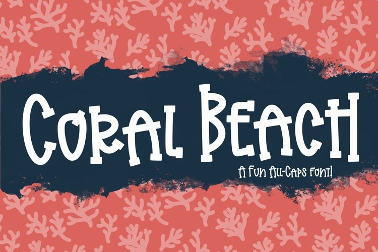 Coral Beach a Playful Font example image 1