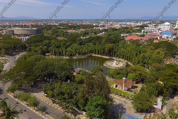 Banda Aceh City Indonesia from the air example image 1