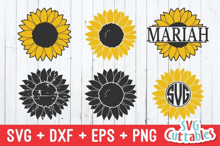 Sunflower SVG   Sunflower Monogram Frame example image 1