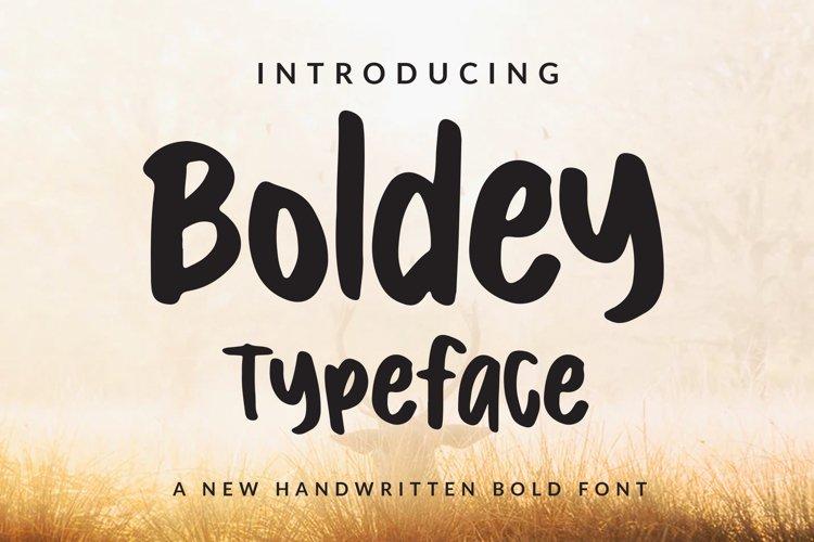 Boldey Typeace - A New Handwritten Bold Font example image 1
