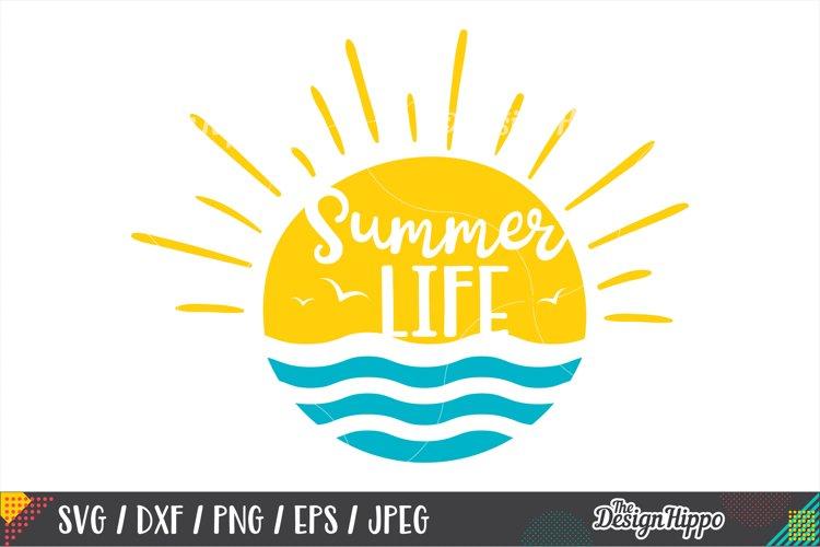 Summer Life SVG, Beach, Waves, Sunshine, SVG DXF PNG Files
