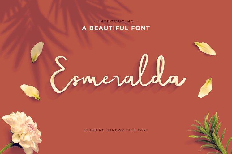 Esmeralda Handwritten Font example image 1