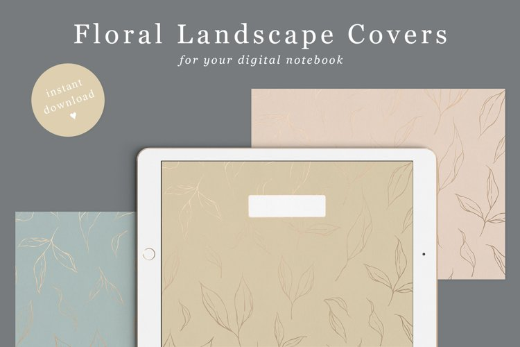 Floral Goodnotes Covers Landscape