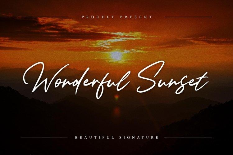 Wonderful Sunset example image 1