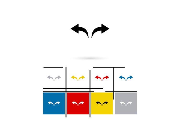 Undo and redo arrows icon vector example image 1