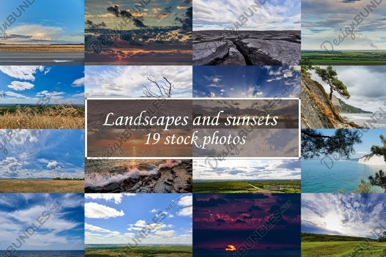 Landscapes and sunsets 19 stock photos