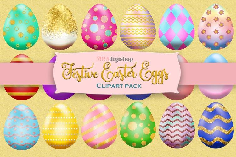 Easter Egg Clipart Pack, Elegant Design, Set of 25