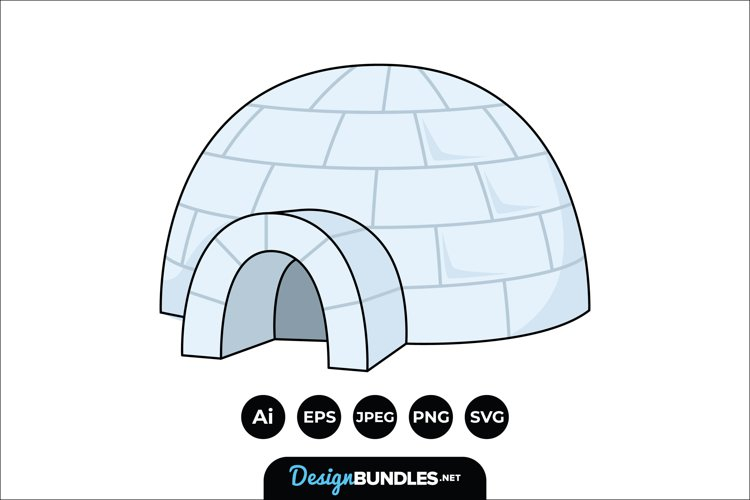 Igloo Clipart example image 1