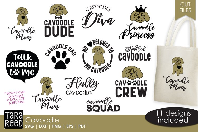Cavoodle - Dog SVG and Cut Files for Crafters