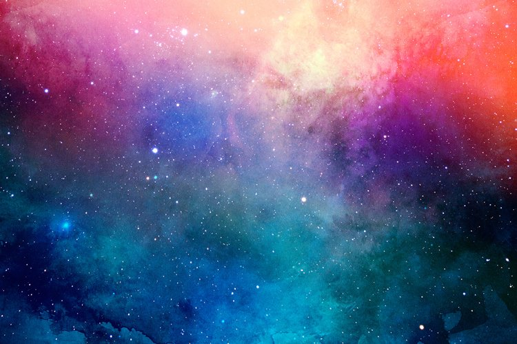 Space Watercolor Backgrounds - Free Design of The Week Design2