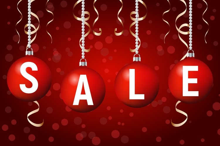 Christmas sale poster example image 1